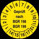 Prüfplaketten - Geprüft nach BGR 198 199