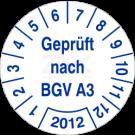 Prüfplaketten - Geprüft nach BGV A3 (2)