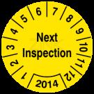 Prüfplaketten - Next Inspection