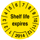 Prüfplaketten - Shelf life expires