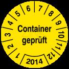 Prüfplaketten - Container geprüft