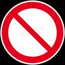 Verbotszeichen - Allgemein
