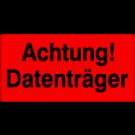 Versandetiketten - Achtung Datenträger