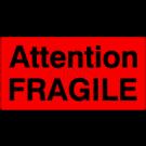 Versandetiketten - Attention fragile