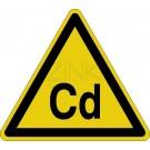 Warnzeichen - Warnung vor Cadmium