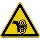 Warnzeichen - Warnung vor Einzugsgefahr (Walzen rechts)