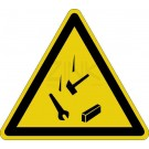 Warnzeichen - Warnung vor herabfallenden Gegenständen
