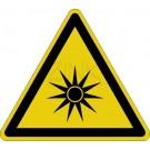 Warnzeichen - Warnung vor optischer Strahlung