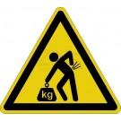 Warnzeichen - Warnung vor Rückenverletzung beim schweren Heben