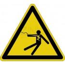 Warnzeichen - Warnung vor überschlagender Spannung